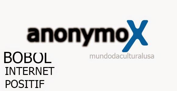 Cara membuka Internet Positif dengan Anonymox
