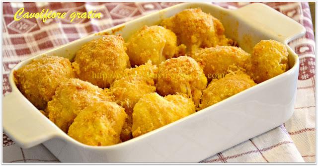 Cauliflower gratin with cheese
