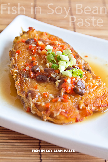 Little inbox recipe eating pleasure fish in soy bean sauce for Soy sauce fish