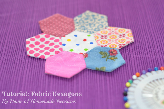 Fabric hexagon flower tutorial
