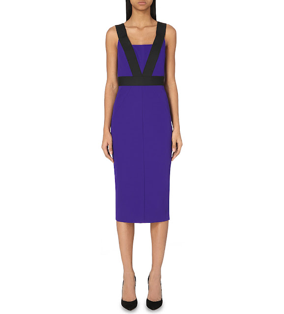 ted baker blue strap dress, blue black strappy dress, ted baker blue midi dress,