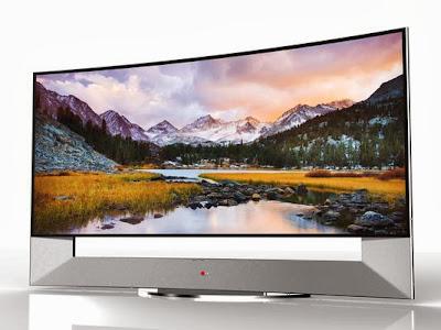 LG Electronics' 21:9 aspect ratio Curved Ultra HD TV 105-inch display. (Photo: LG Electronics)