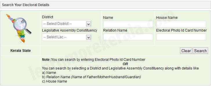 Kerala Eelectoral Search