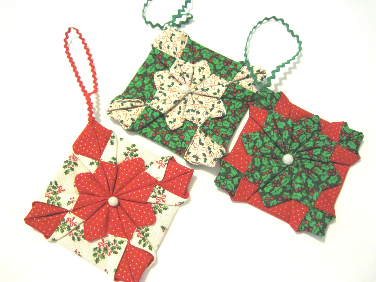 Stories From A Mature Entrepreneur: Christmas ornaments from scrap fabric.