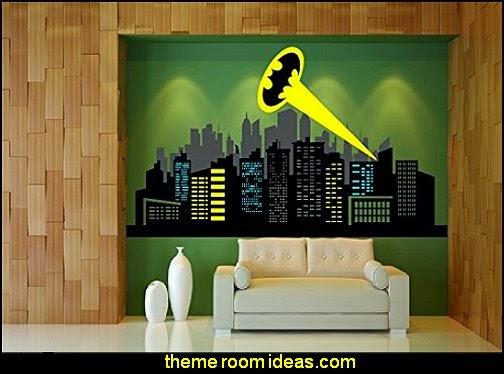 Batman Logo & City Skyline  Wall decal