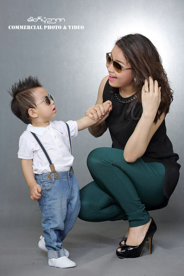 Chaw Yadanar and Her Baby Photoshoot