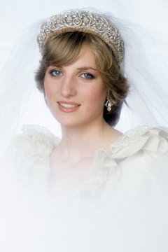 Princess Diana's Wedding Dress Attributes: Tiara and Veil