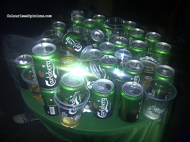 Beer cans at Carlsberg Where's The Party 2013 (WTP IV) in Malaysia