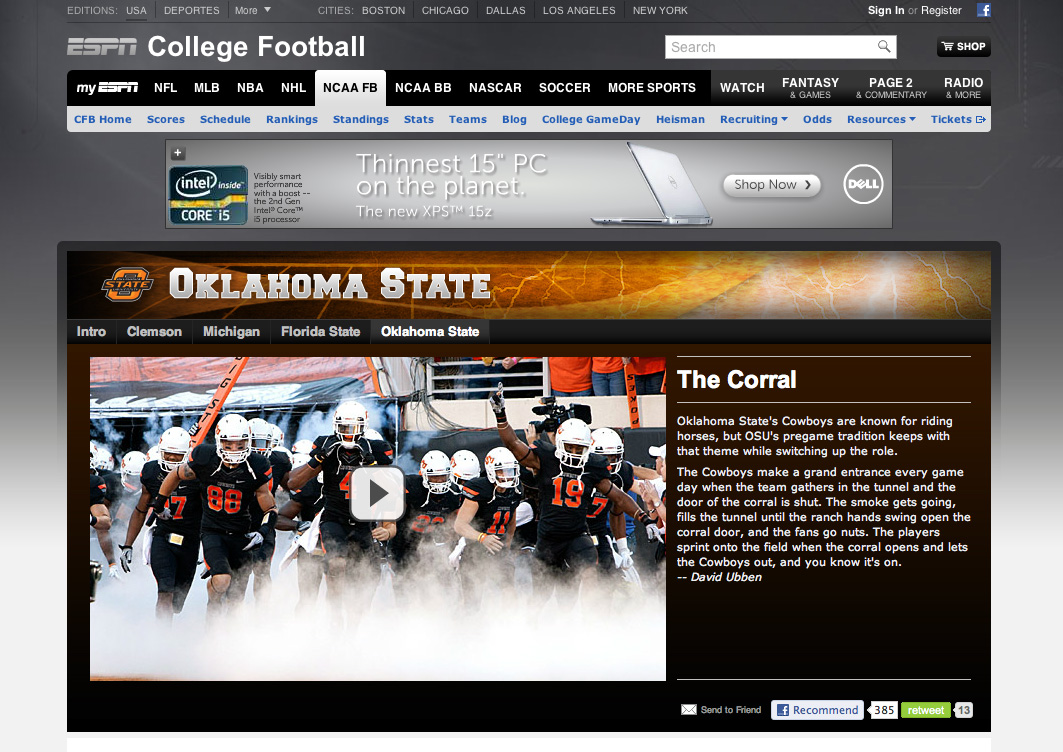 The cowboy huddle espn college football traditions