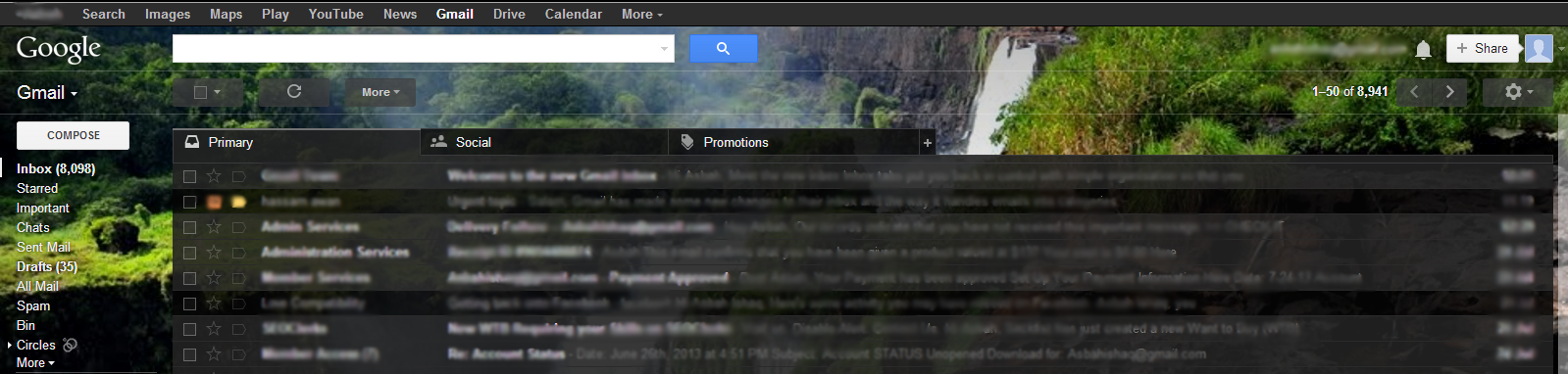 Three Tabs in Gmail Inbox