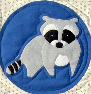 meags and me: Deep in the Woods Quilt Pattern.  Raccoon.