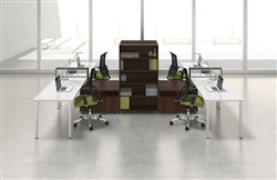 4 Person Office Cubicle