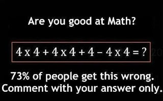 4x4+4x4+4-4x4= answer, what is the correct answer 4x4+4x4+4-4x4=, answer for math problem