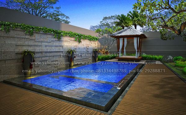 seputar dunia rumah desain gazebo dan kolam renang taman