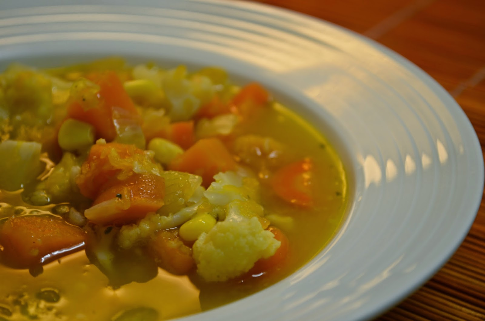 Gingery yellow vegetable soup