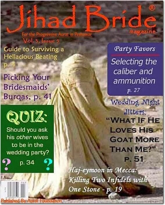 Funny Jihad Bride Magazine Joke Picture
