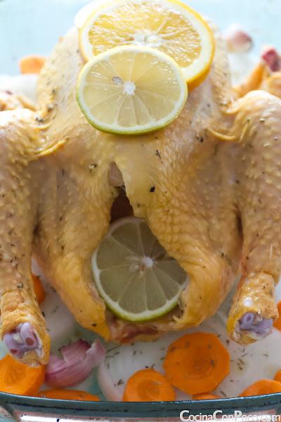 Pollo asado al horno - Receta paso a paso
