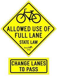2 2X Bikes May Use Full Lane  Vinyl Sticker Decal fixie mtb Mountain road