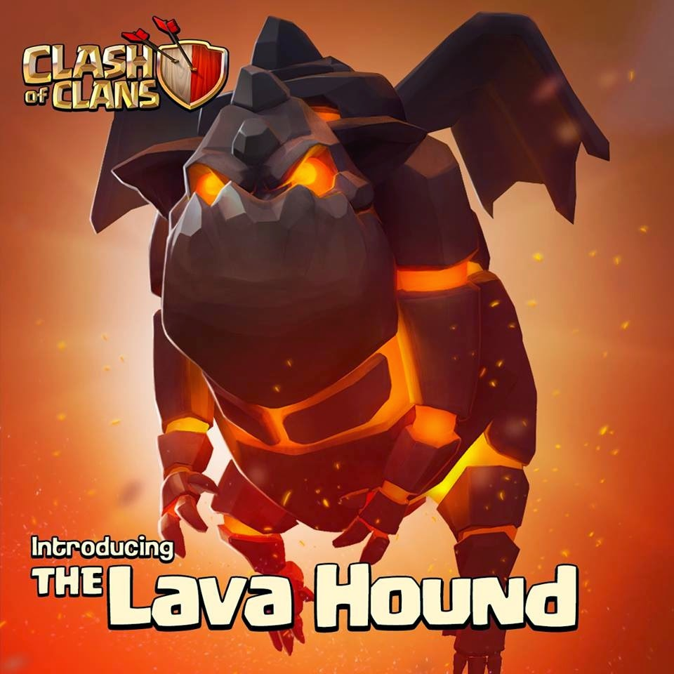 Karakter Troops Lava Hound Pada Game Clash of Clans