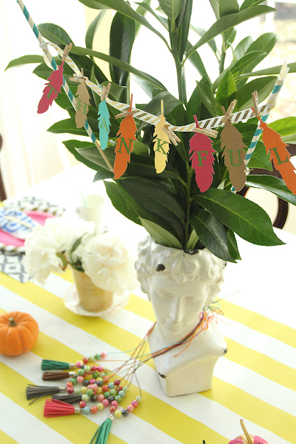 Colorful Kids Thanksgiving Tablescape Less Than Perfect