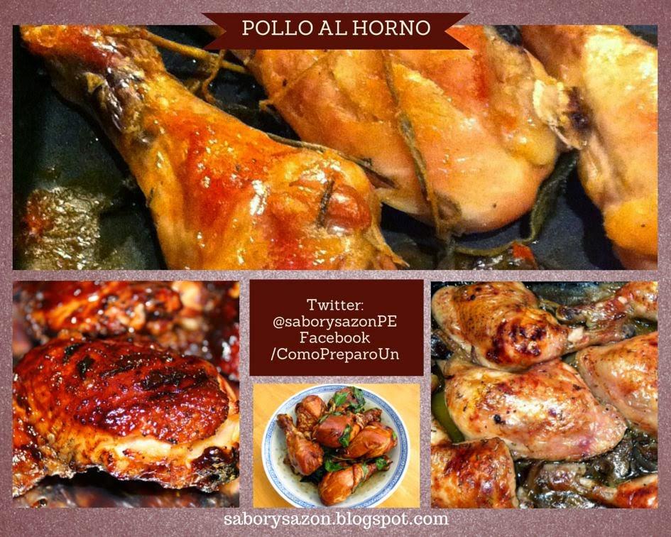 Como preparar un pollo al horno receta sencilla sabor - Como cocinar pollo al horno ...