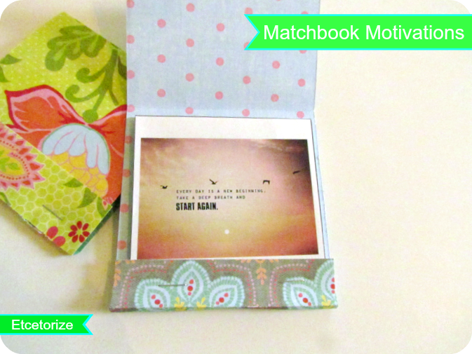 DIY Matchbook, Portable Motivations, DIY Booklet, Inspiring Quotes
