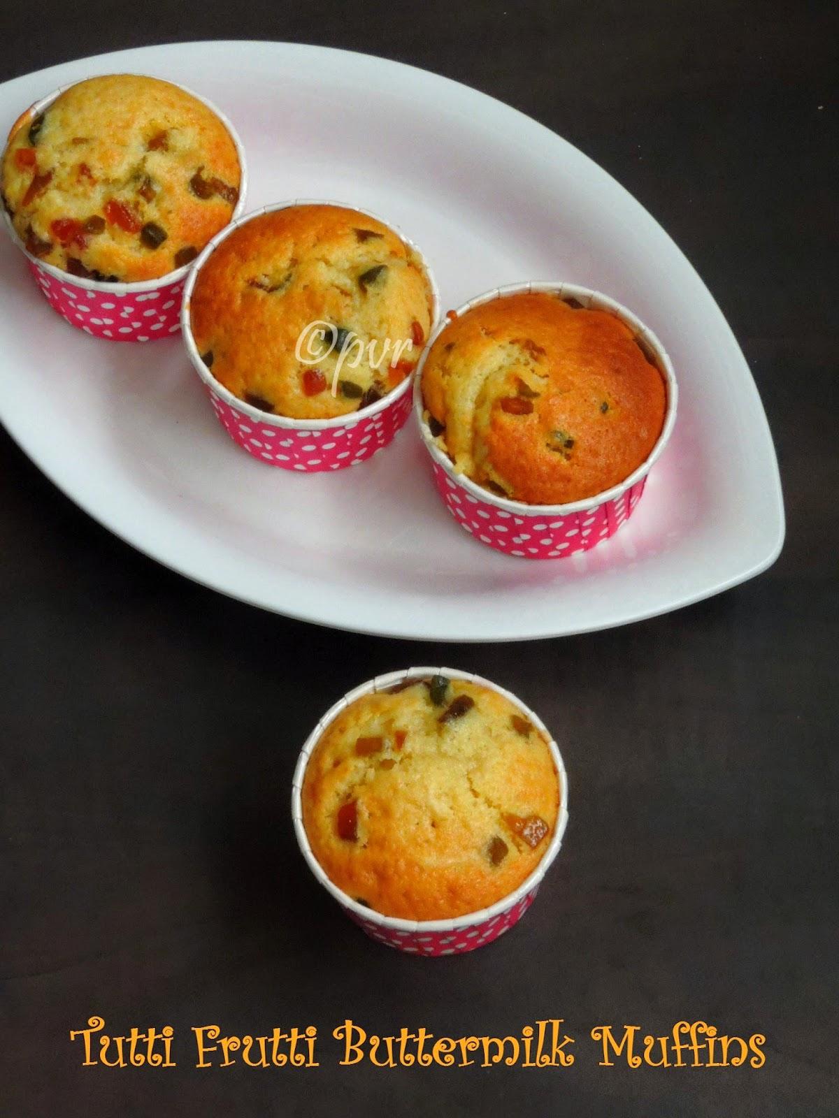 Tutti Frutti Buttermilk Muffins