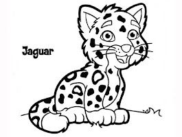 Baby Jaguar And Diego Coloring Page