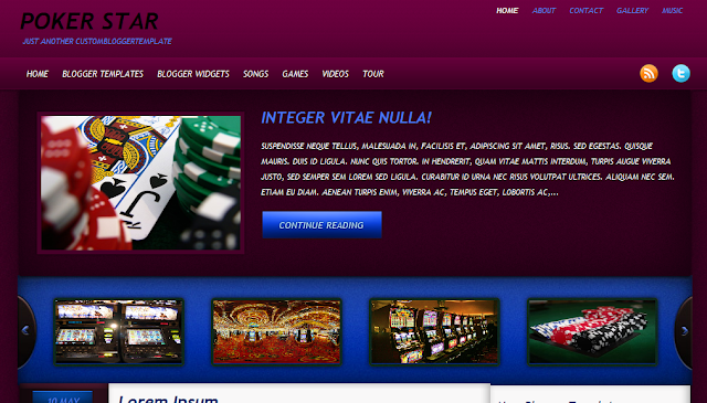 Poker Theme Blogger Template