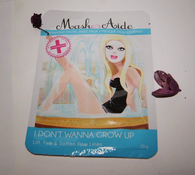 MaskerAide Facial Sheet Masks: IDon't Wanna Grow Up, Detox Diva, Beauty Rest'ore, review, skincare, face, toronto, ontario, canada, the purple scarf, melanieps