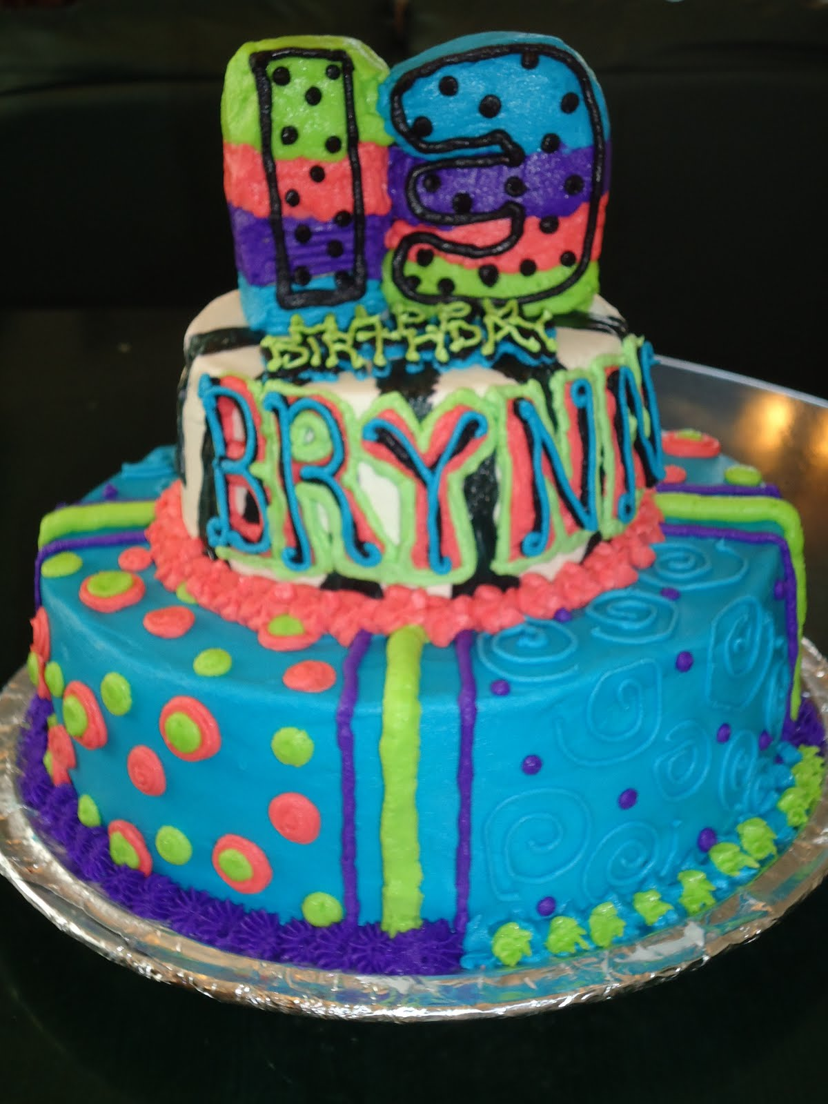 Cats Cake Creations Wild And Crazy Colorful Birthday Cake