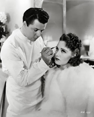 Perc Westmore does Rosemary Lane´s makeup for Hollywood Hotel