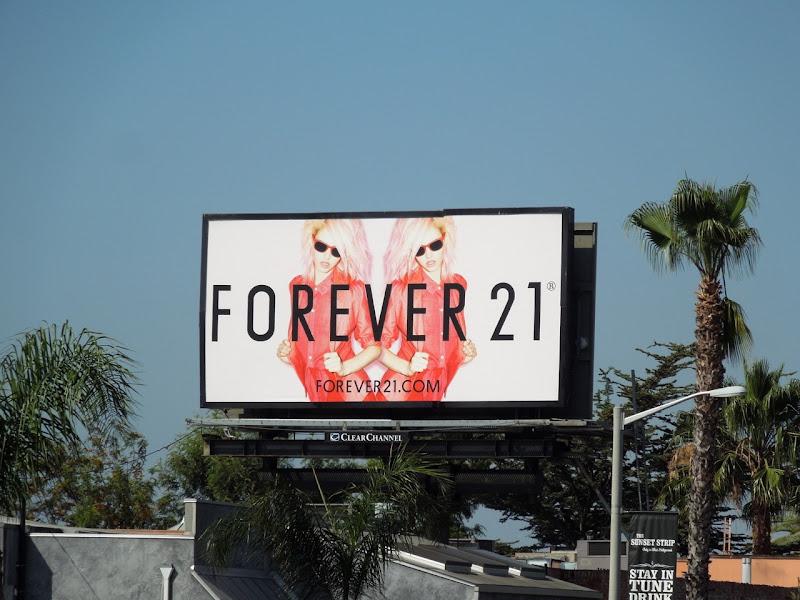 Forever 21 fashion billboard