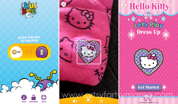 KuKee App Hello Kitty Let's Play at artsyfartsymama.com #pmedia #helllokittyletsplay #kukeeapp
