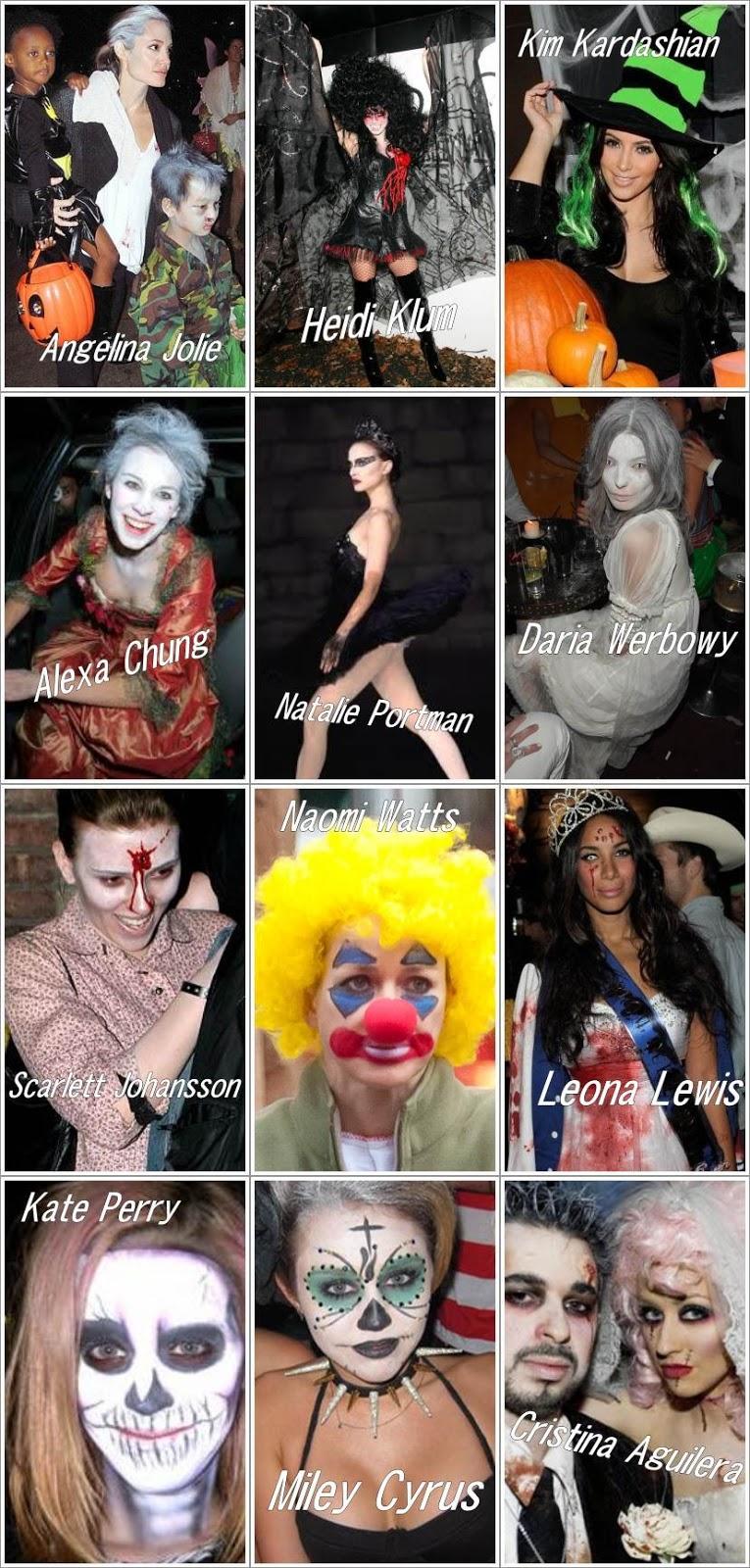 mejores disfraces halloween famosas celebrities