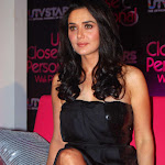 Preity Zinta Sexy Legs Show In a Black Dress