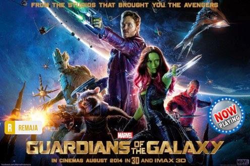 Film Guardians of the Galaxy 2014 di Bioskop
