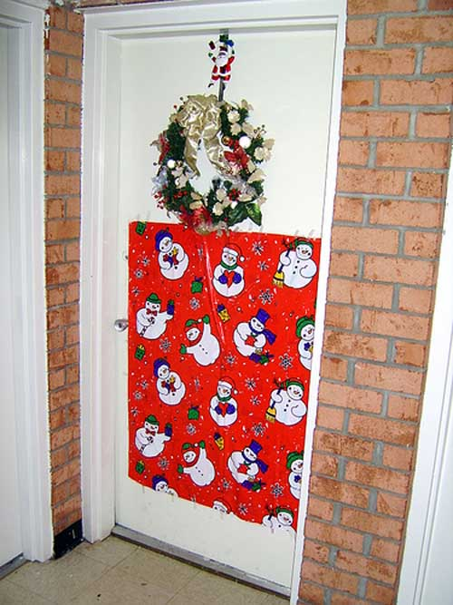 Of Christmas Door Decoration Of Christmas Front Door New 2011 Ideas