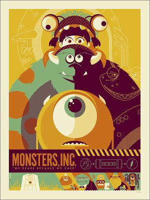 Monstruos poster retro