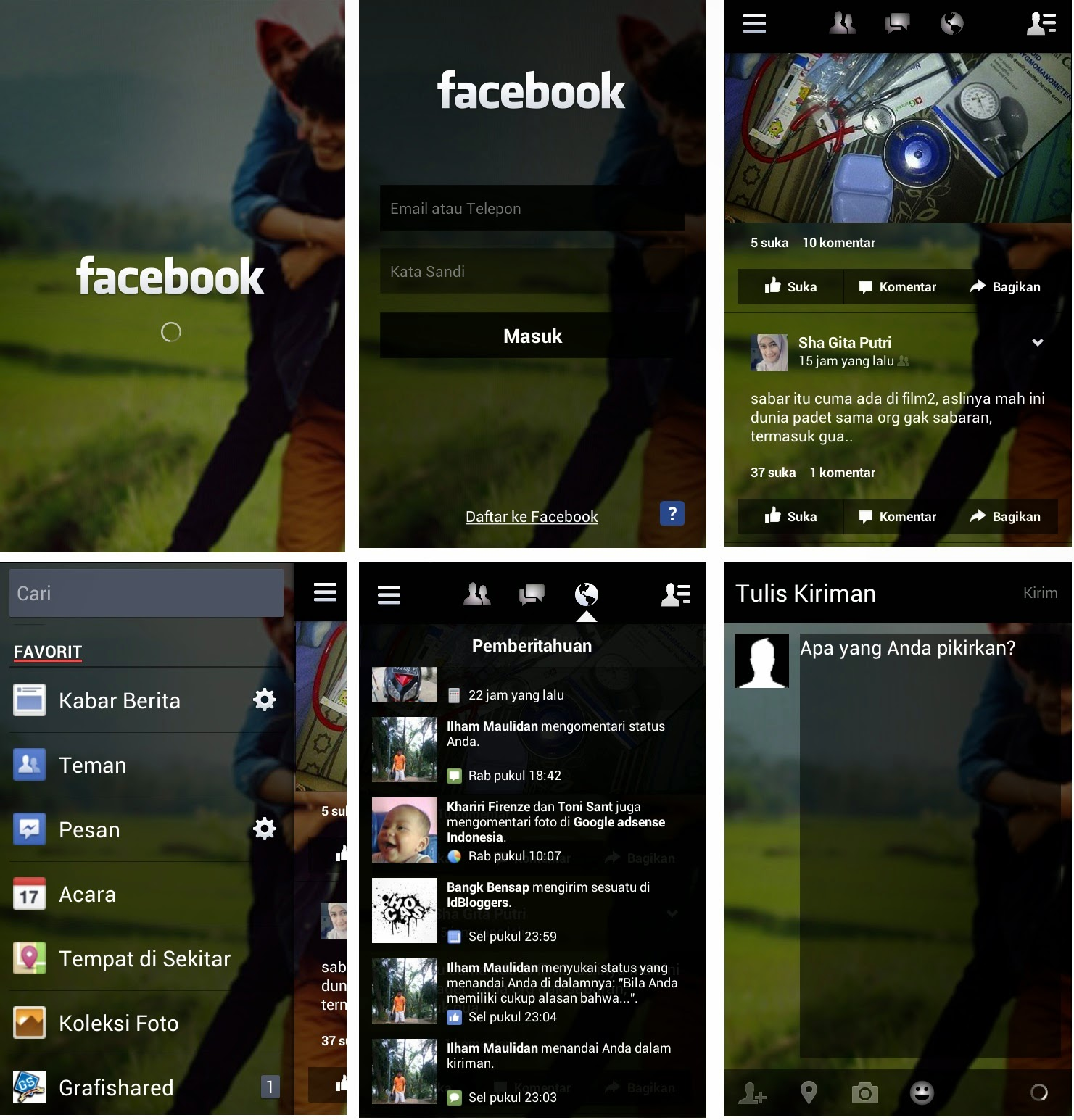 Download aplikasi Facebook Mod Transparan apk for Android