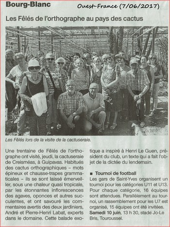 Ouest-France (7 06 2017)