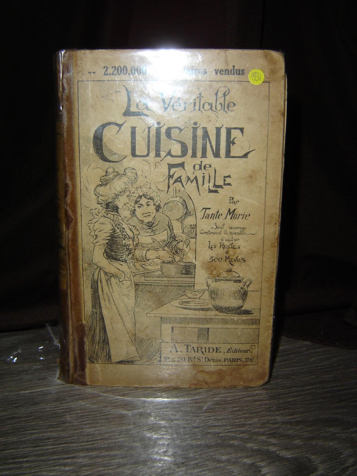 Objets anciens et insolites for Anciens livres de cuisine