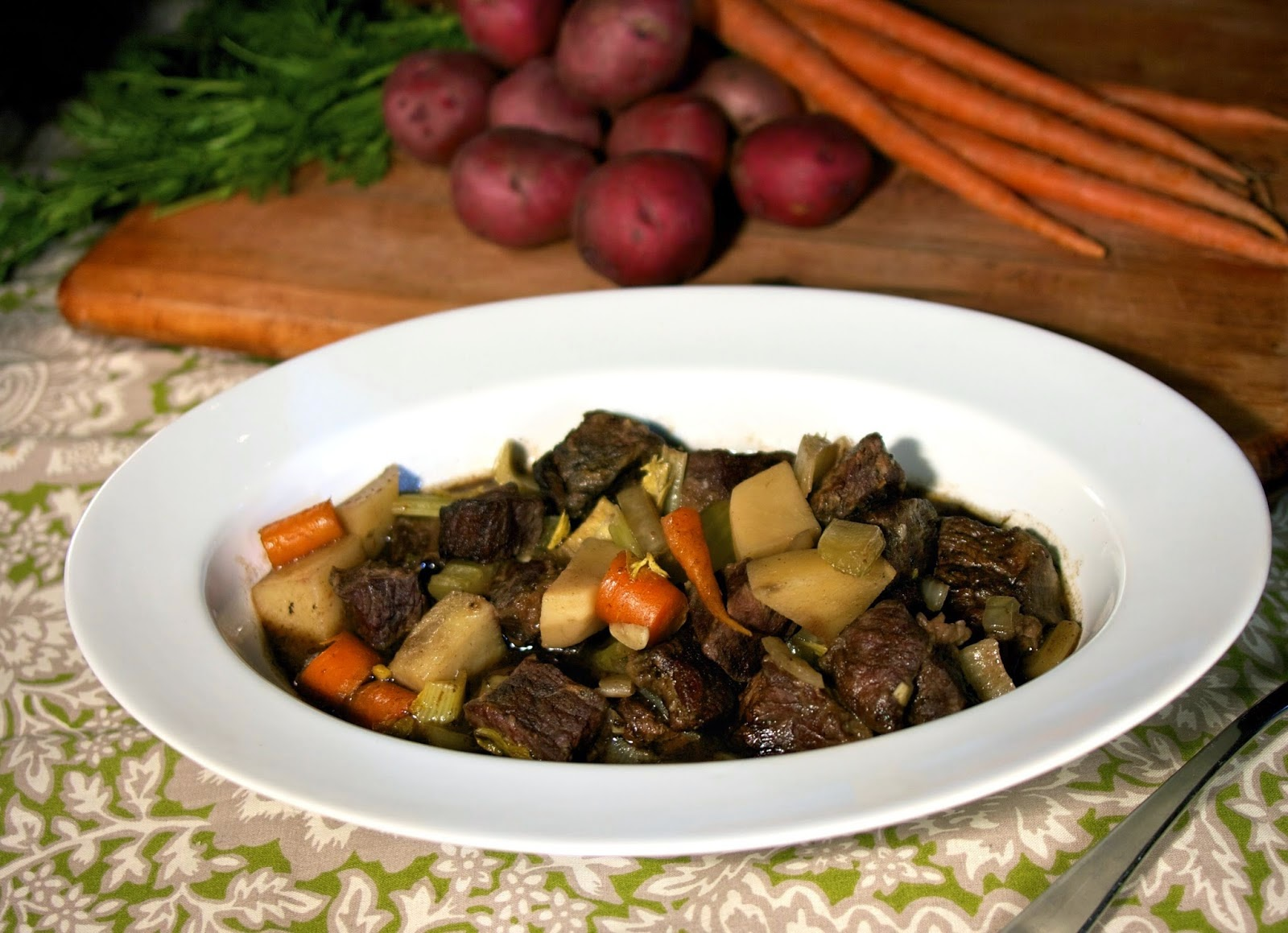 Slow Cooker Half Crocked Beef Stew: simplelivingeating.com