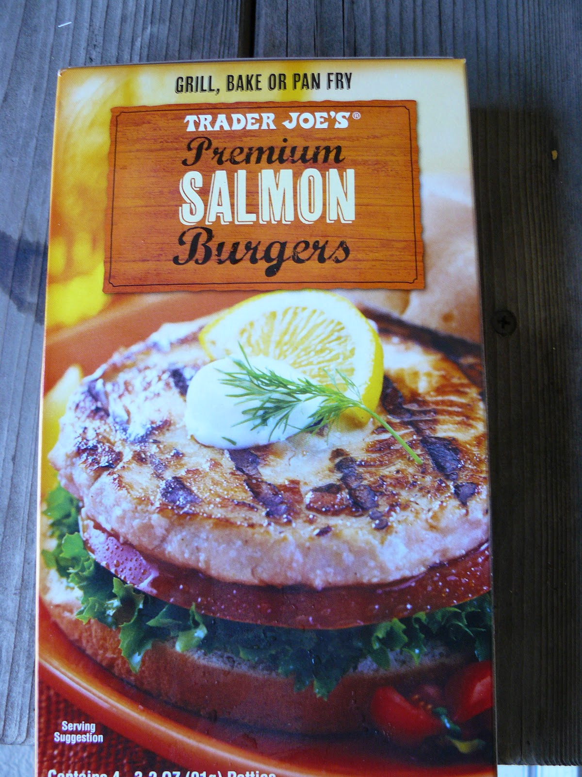 Meal survivor trader joe 39 s salmon burgers for Trader joes fish