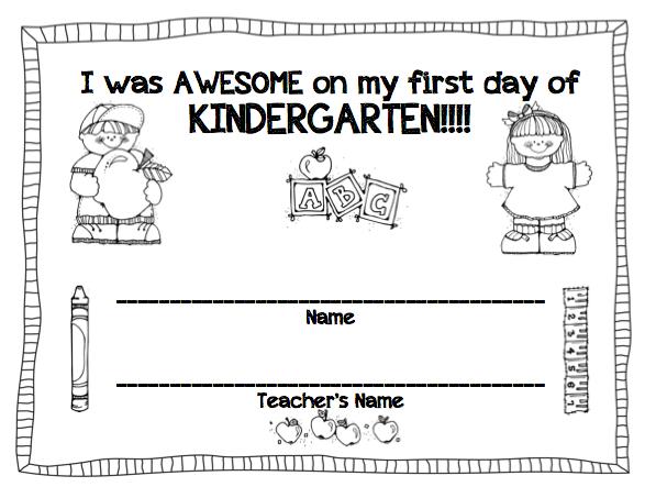 Printables Kindergarten First Day Of School Worksheets first day of school printables for preschool booklet kindergarten k5 worksheets