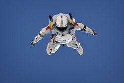 Imagen del Salto de Felix Baumgartner - Red Bull Stratos