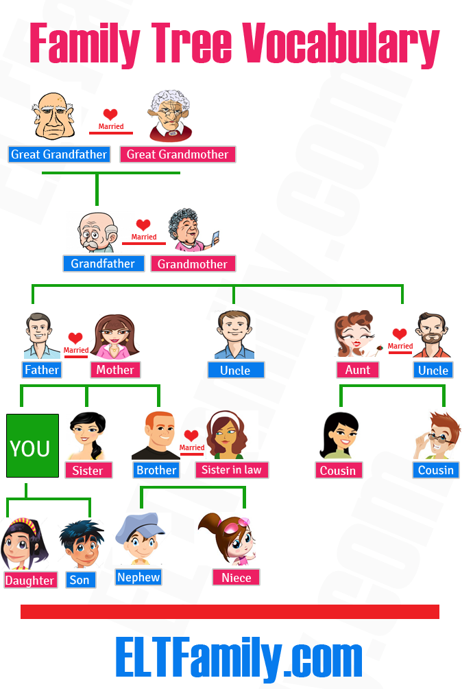 Extended Family Tree Homeworks  self tests andExtended Family Tree Diagram