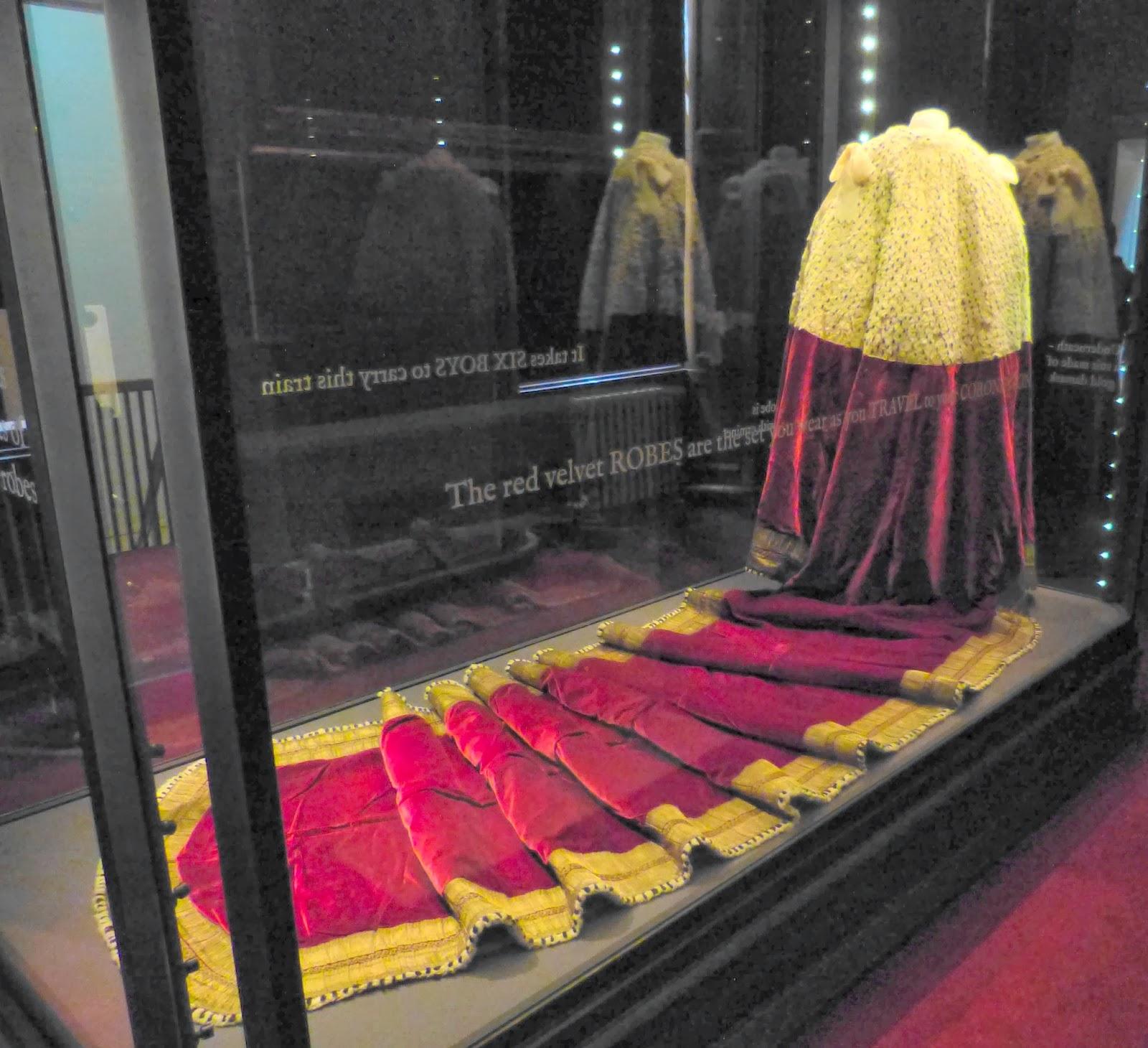 George III's coronation robes on display in Kensington Palace