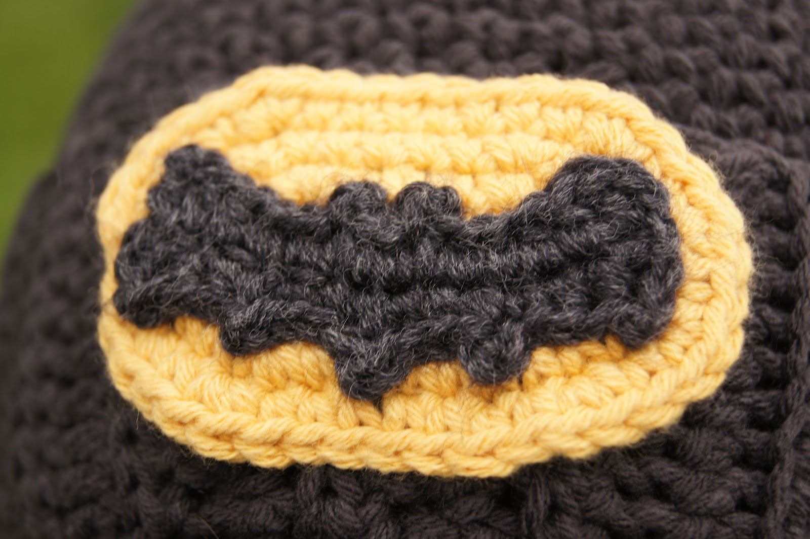 Free Crochet Pattern For Batman Hat : Batman Crochet Pattern Related Keywords - Batman Crochet ...