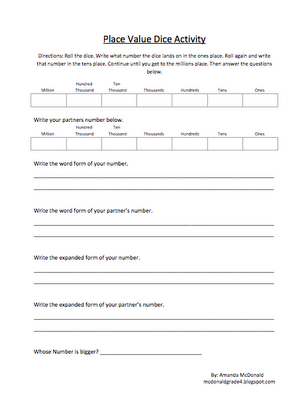 Fourth grade math worksheets expanded form